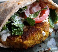 Falafel Burgers with Easy Tzatziki