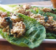 Sweet n' Spicy Vegetarian Lettuce Wraps