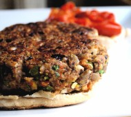 Nutty Veggie Burgers with Pepperjack