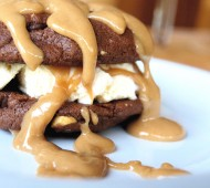 Peanut Butter Drenched Ice Cream Sandwiches
