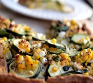 Whole Wheat Corn and Zucchini Galette