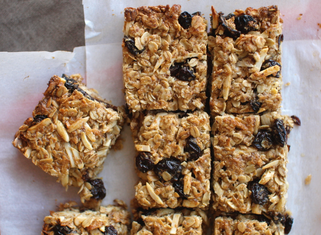 cherry coconut granola bars