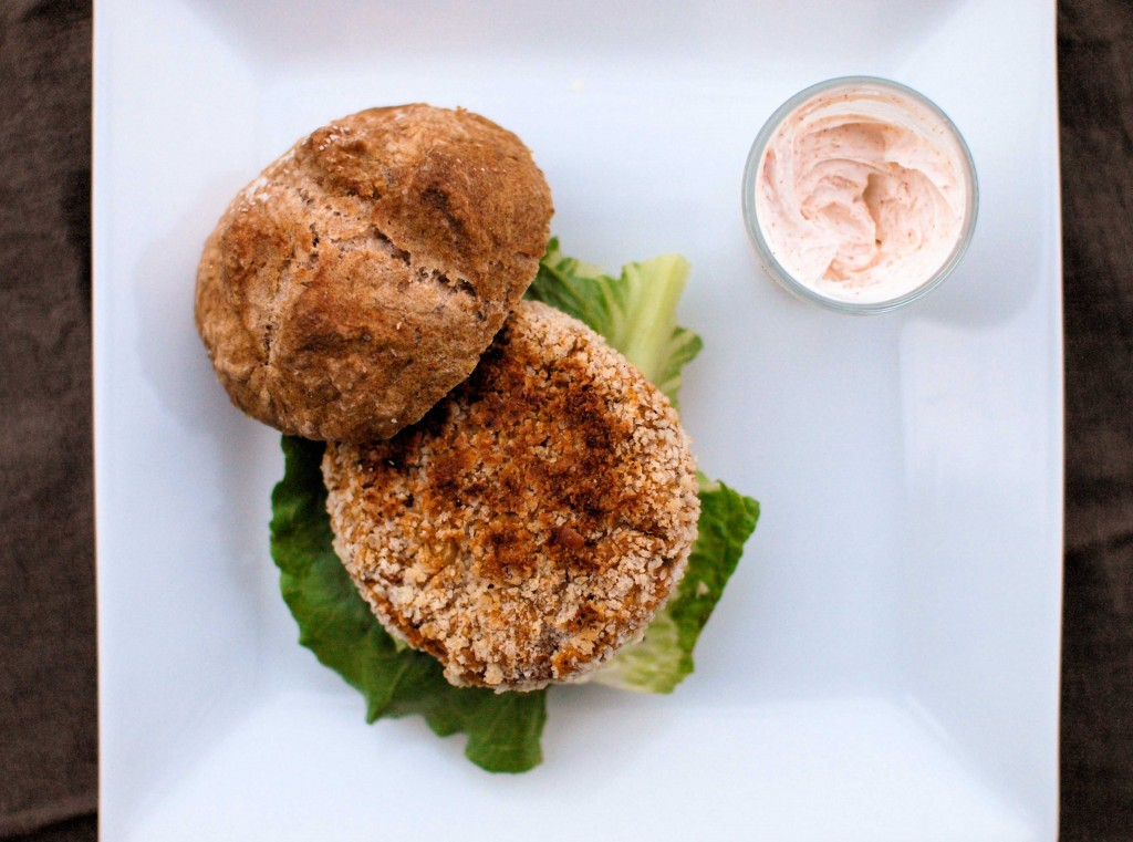 Crispy Red Lentil Burgers from Veggie and the Beast