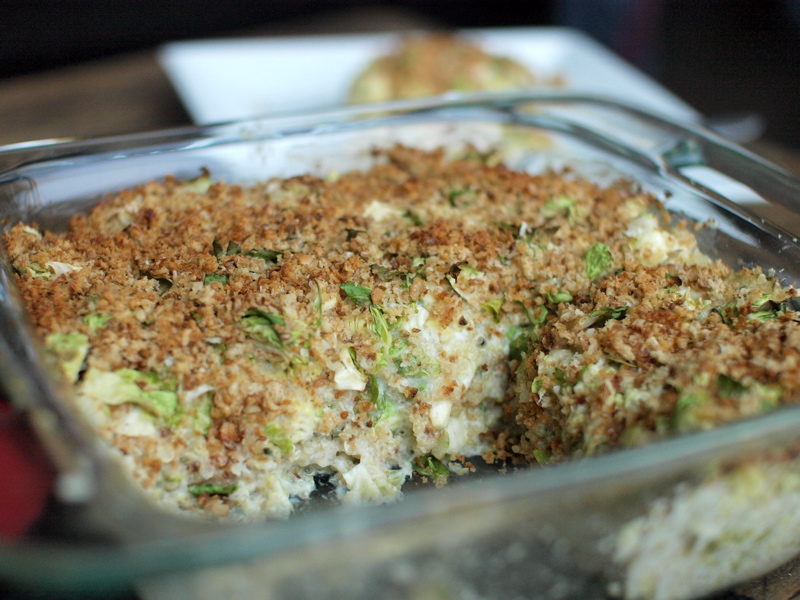 ... Behavior and Brussels Sprout Quinoa Gratin | Veggie and the Beast