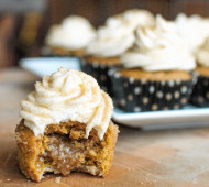 Pumpkin Pecan Pie Cupcakes | Veggie and the Beast