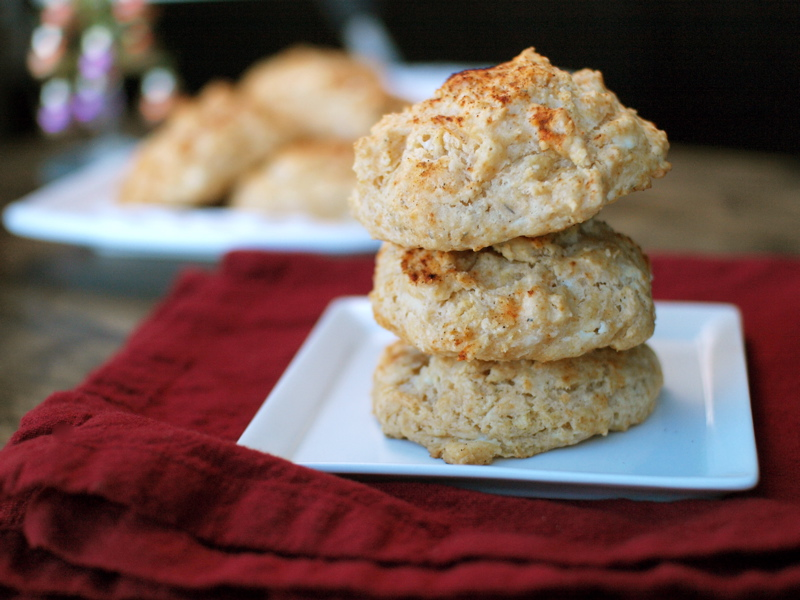 goat cheese paprika biscuits