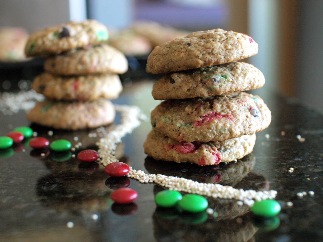 quinoa monster cookies