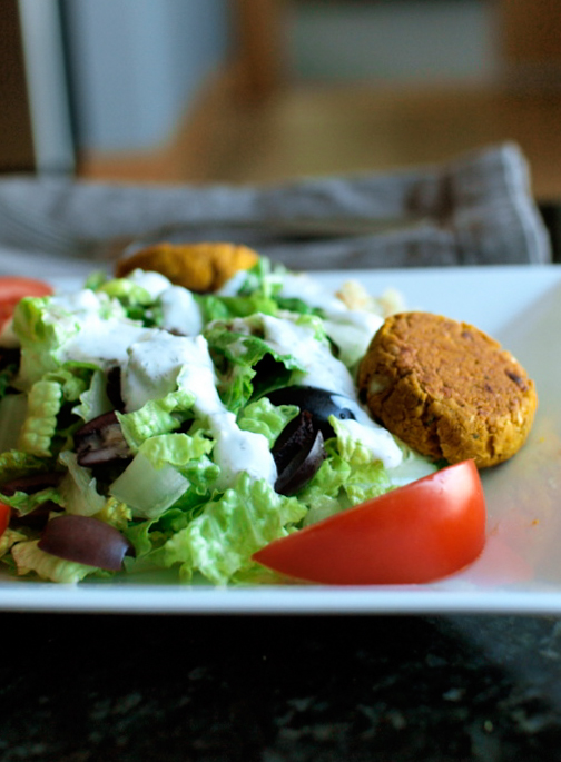 Greek Falafel Salad by Veggie and the Beast
