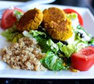Baked Falafel Greek Salad
