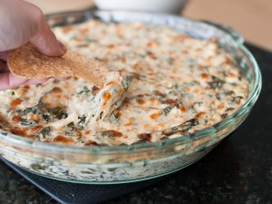 Lightened-Up Spinach Artichoke Dip from Veggie and the Beast