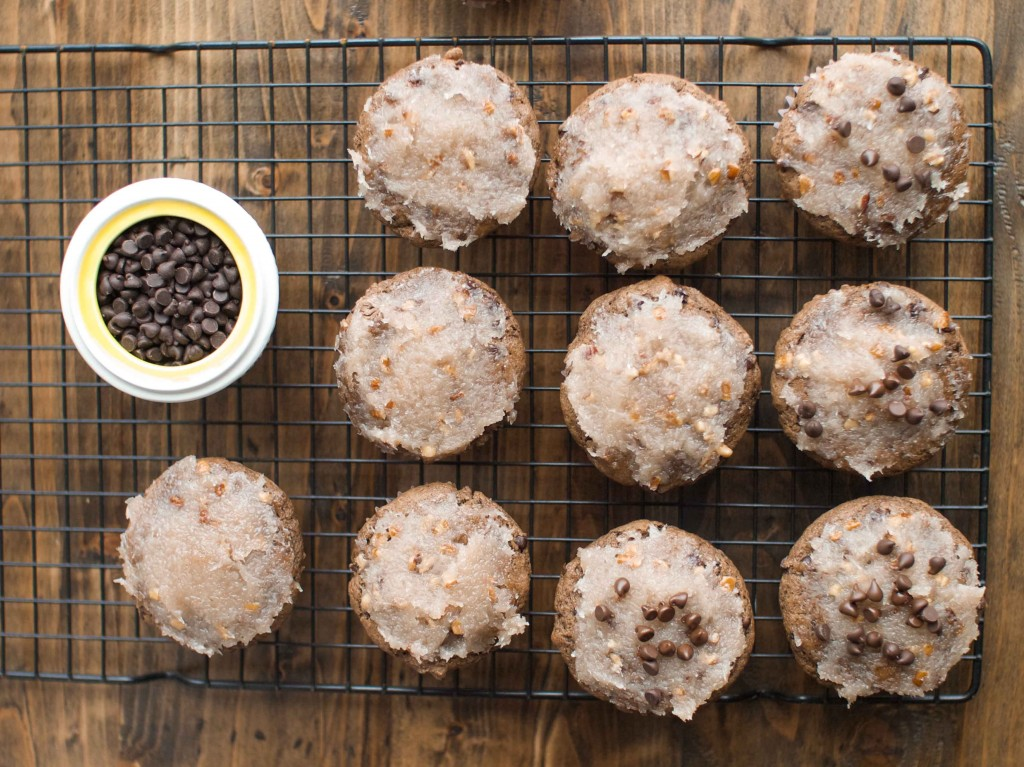 German Chocolate Cake Muffins from Veggie and the Beast