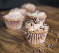 German Chocolate Cake Muffins // @veggiebeastblog