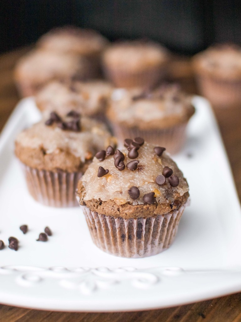 German Chocolate Cake Muffins by Veggie and the Beast