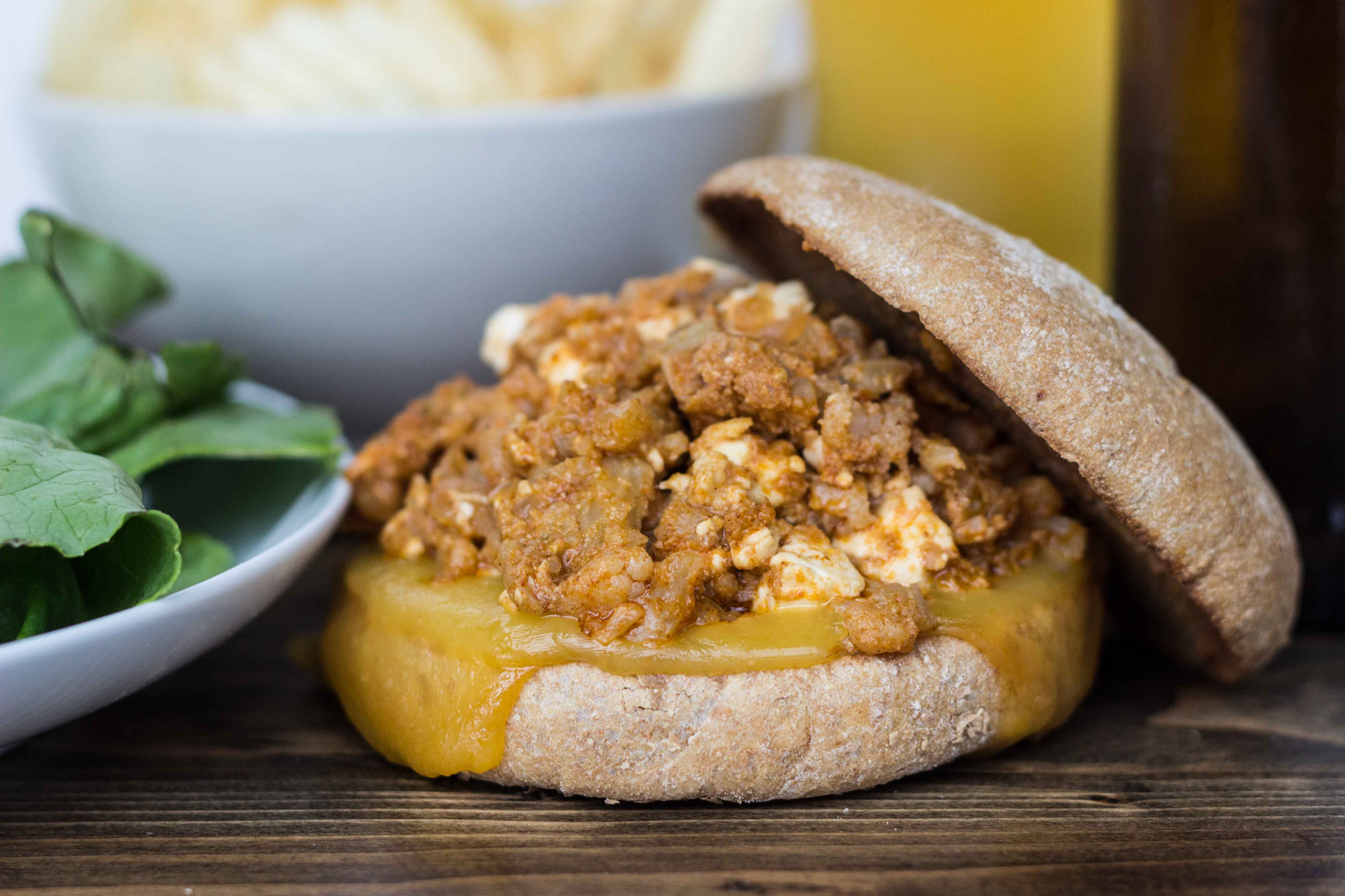 Brown Butter Buffalo Cauliflower Sloppy Joes | Veggie and the Beast