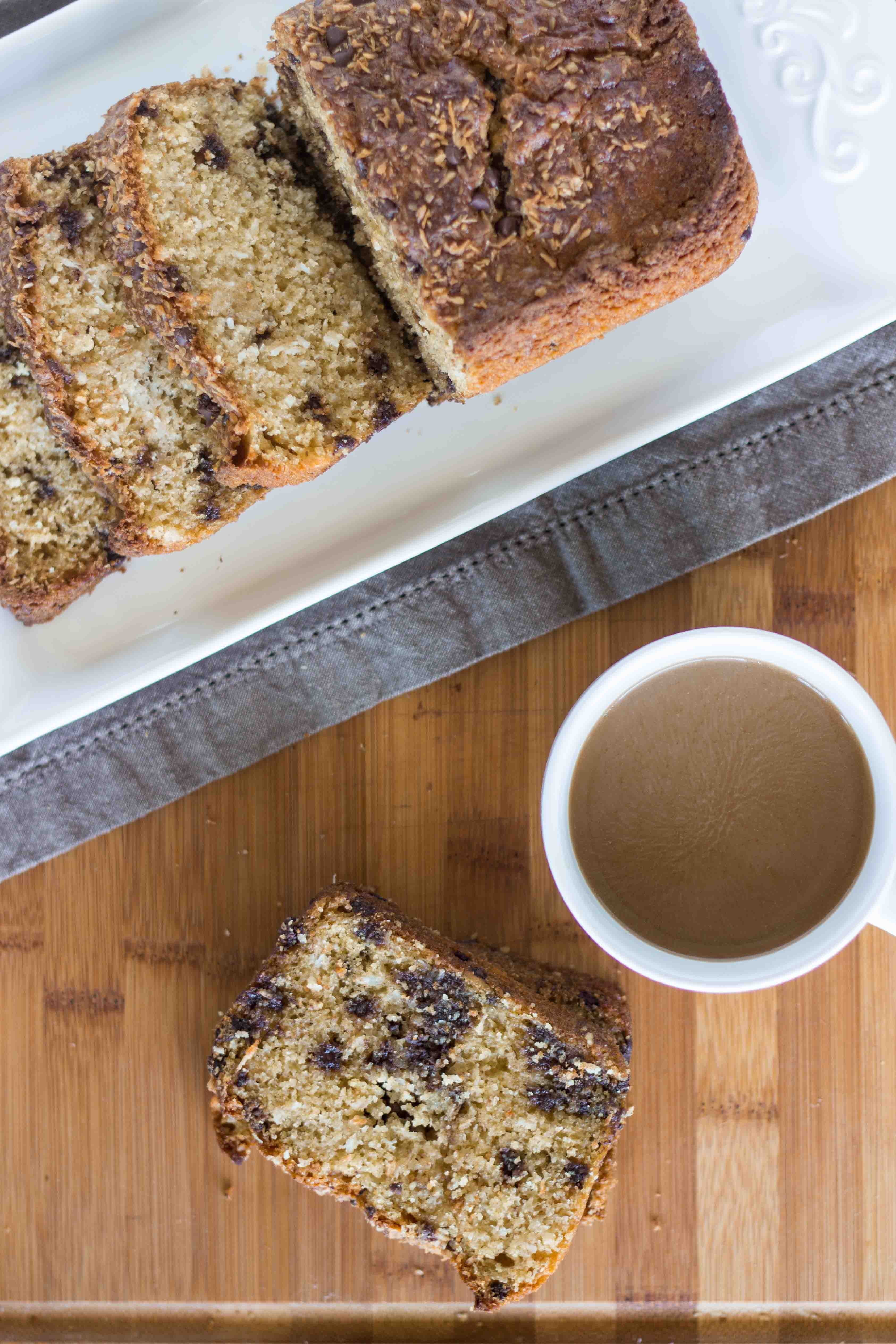 Triple Coconut Chocolate Chip Quick Bread | Veggie and the Beast