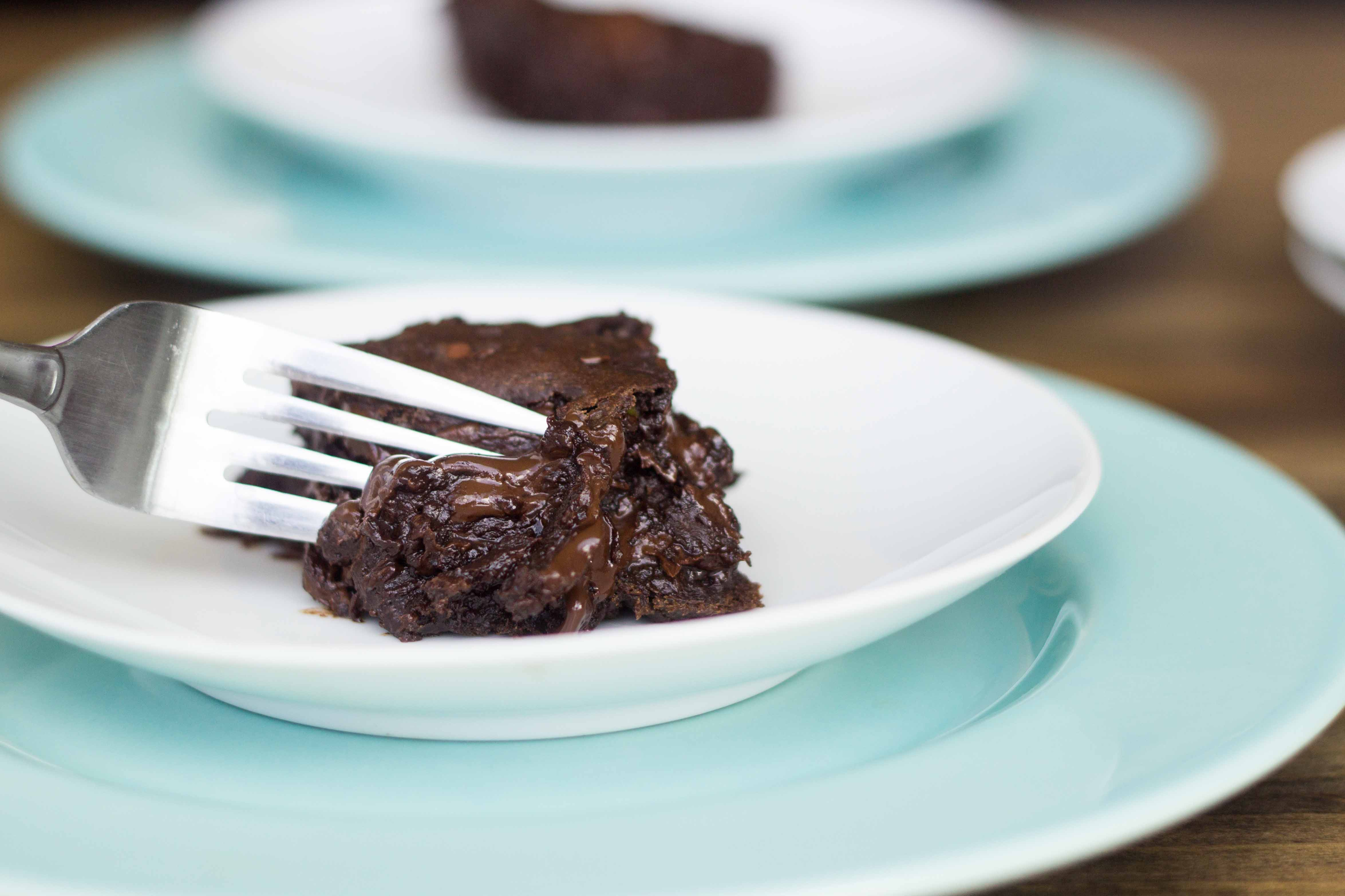 Mexican Hot Chocolate Molten Brownies