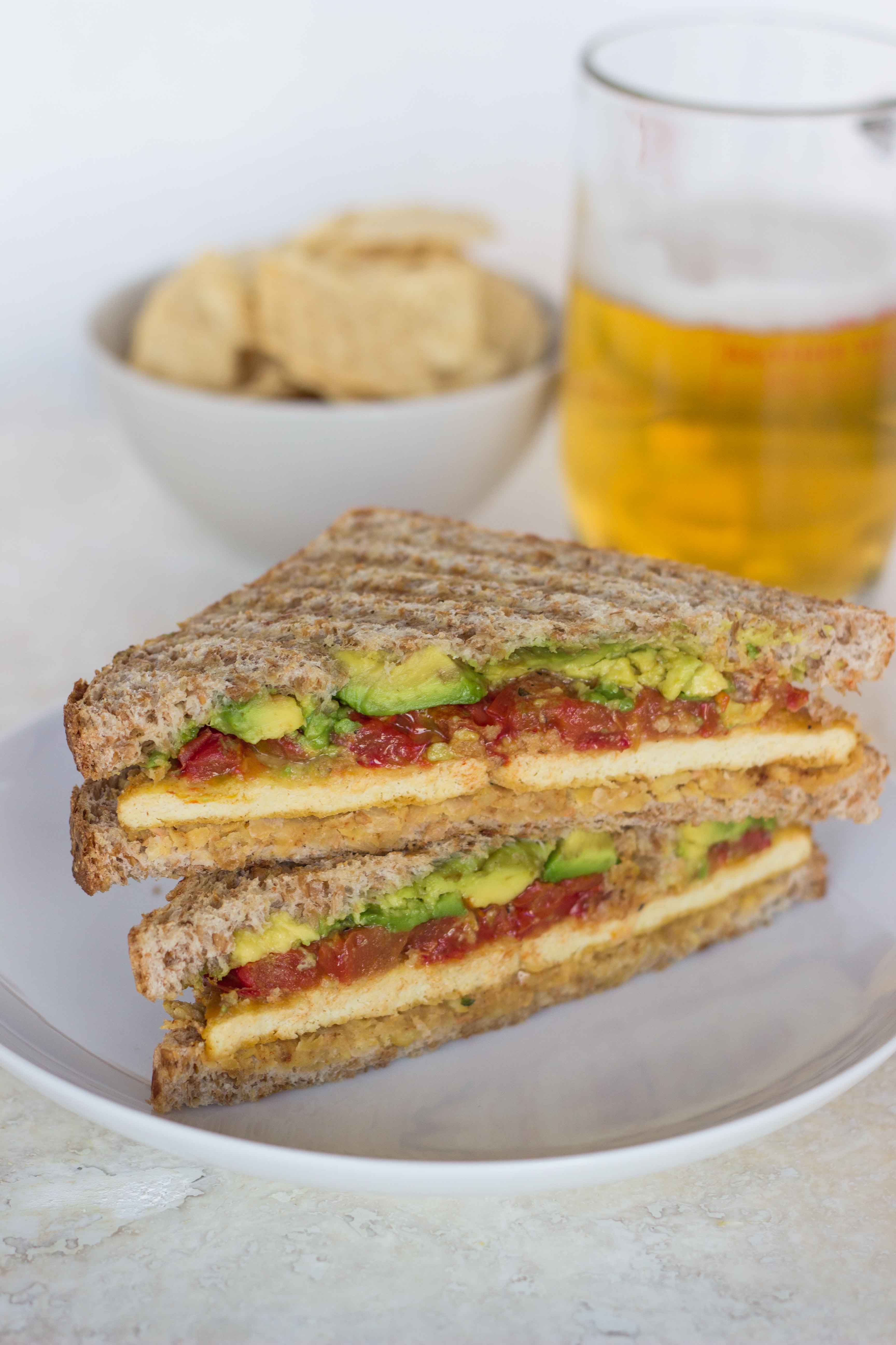 Smashed Chickpea, Roasted Tomato, and Avocado Sandwich | Veggie and the Beast