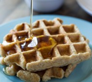 Whole Wheat Zucchini Oat Waffles for Two
