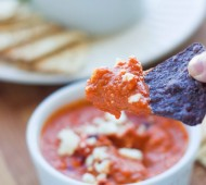 Roasted Red Pepper White Bean and Feta Dip | Veggie and the Beast