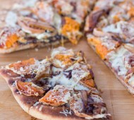 Roasted Sweet Potato & Balsamic Caramelized Onion Pizza