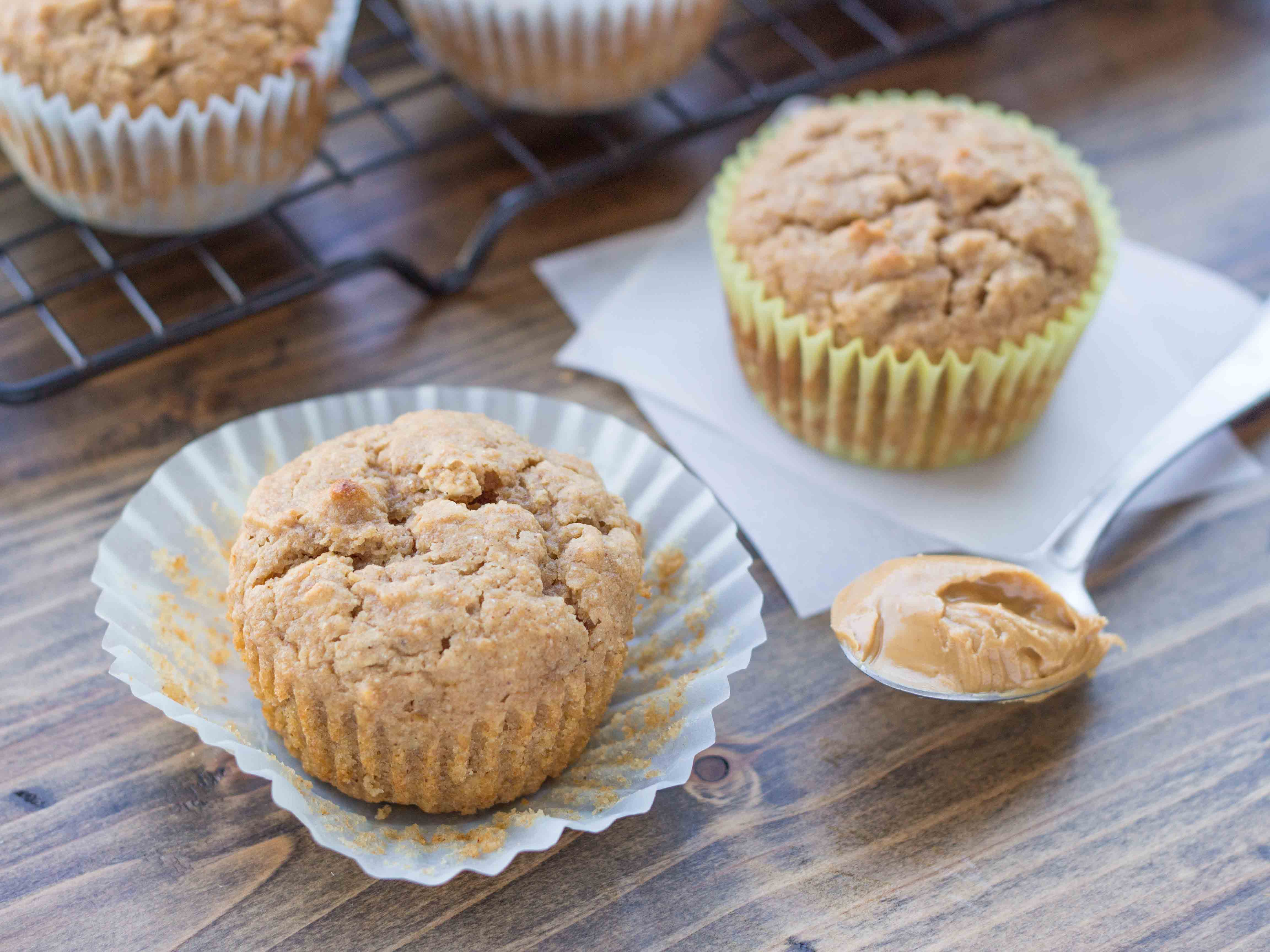 Peanut Butter Protein Muffins | Veggie and the Beast