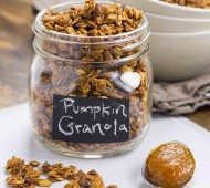 Pumpkin Butter and Brown Butter Maple Pecan Granola | Veggie and the Beast