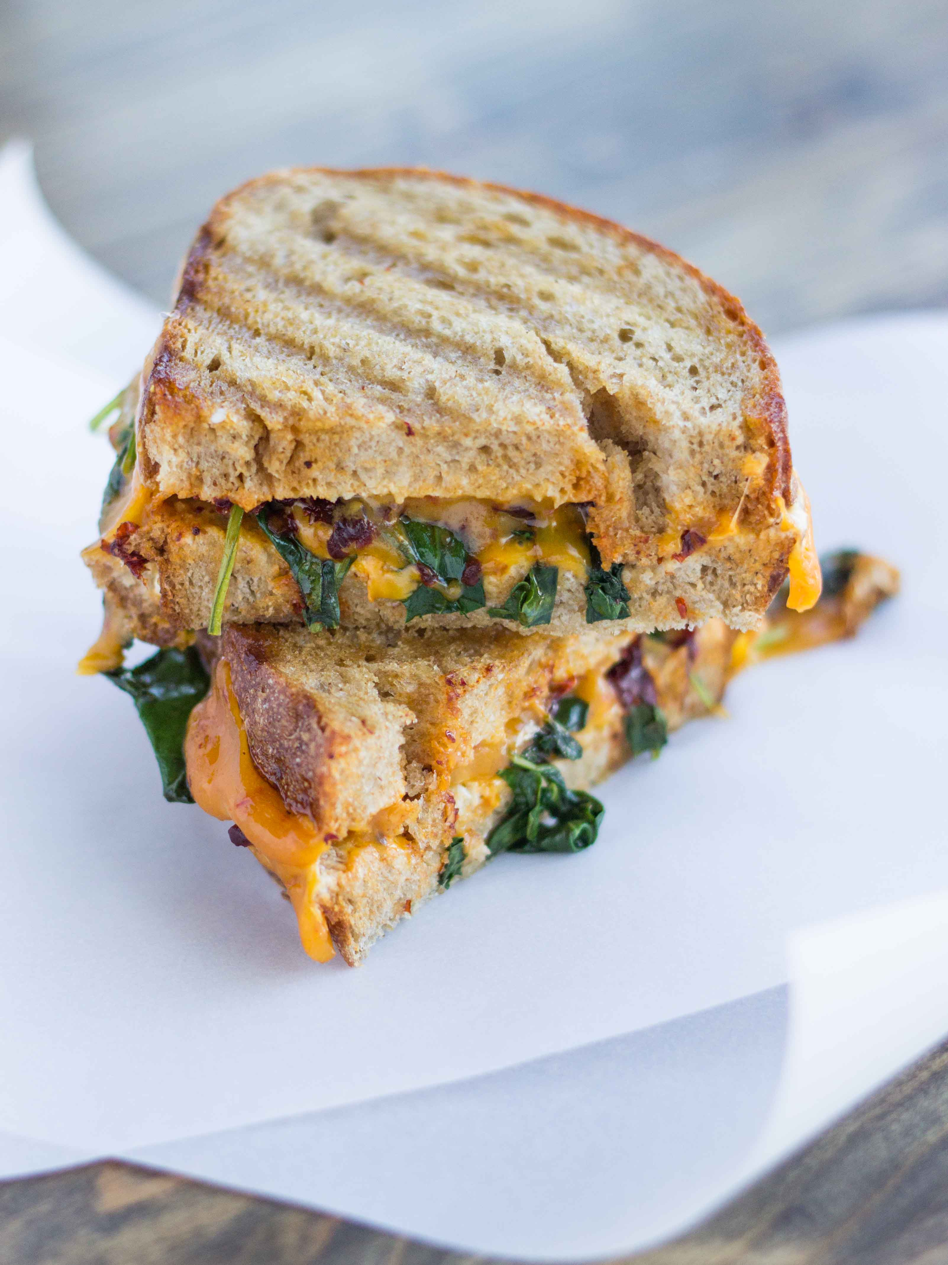 Smoky Kale and Chipotle Grilled Cheese | Veggie and the Beast