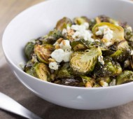 Brussels Sprouts with Lemon and Goat Cheese