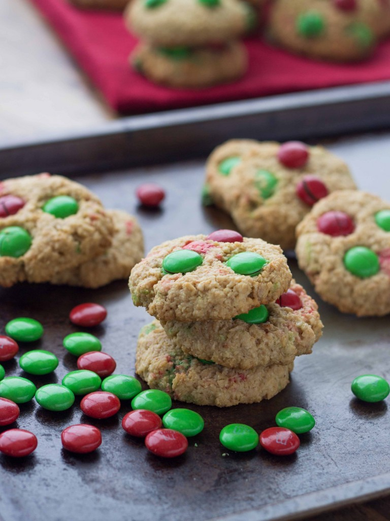 Gluten Free Almond Coconut M&M Cookies   Veggie and the Beast