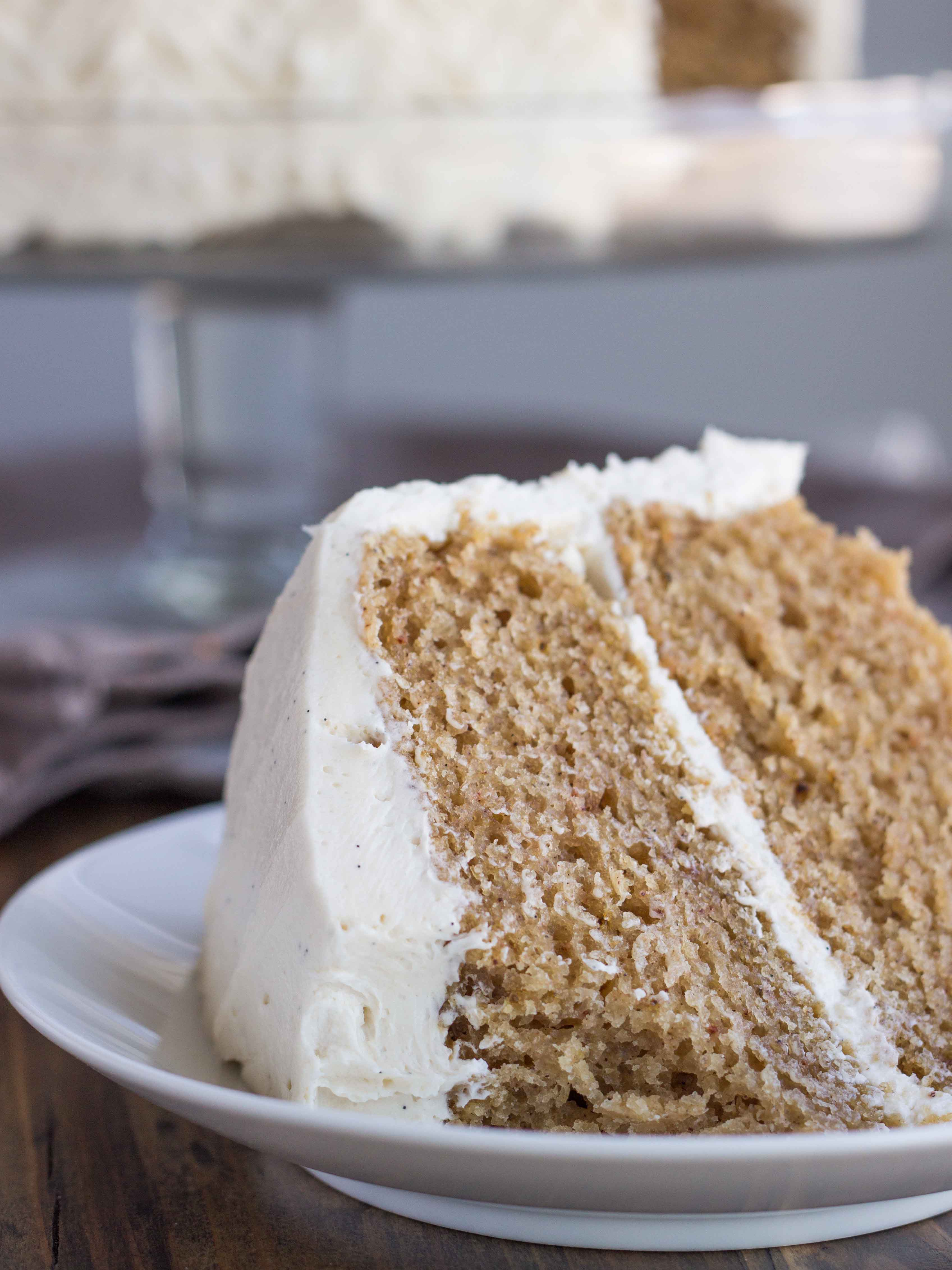 Chai Spice Cake with Vanilla Bean Buttercream (Vegan) | Veggie and the ...