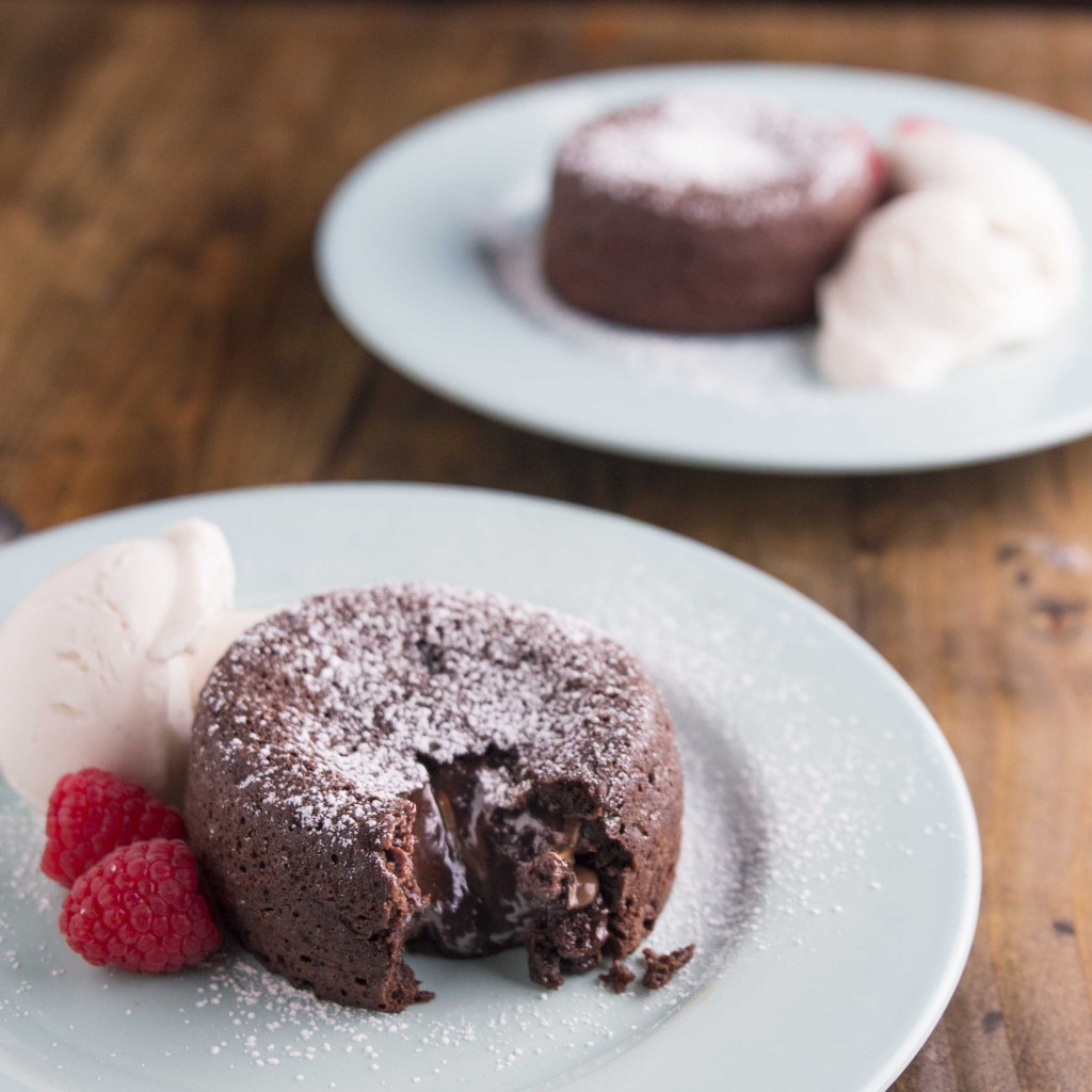 Molten Chocolate Nutella Cakes for Two | Veggie and the Beast
