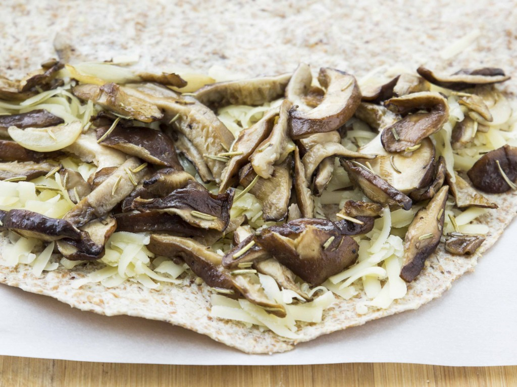 Roasted Mushroom and Caramelized Onion Quesadilla | Veggie and the Beast