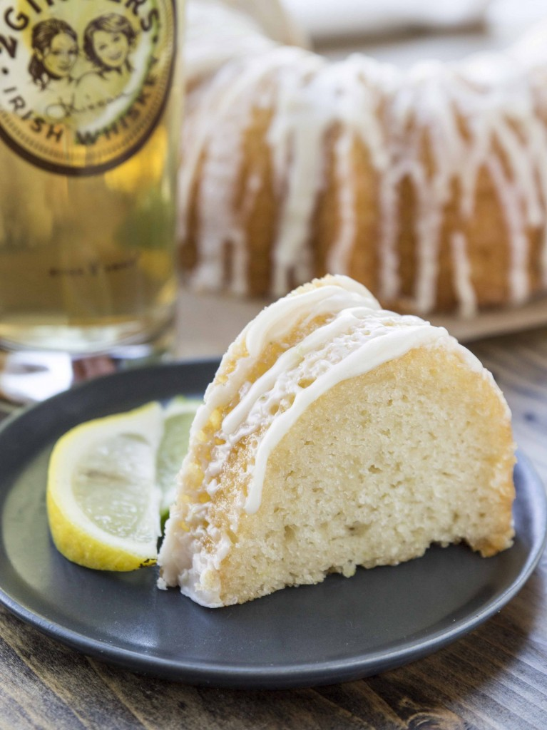 Big Ginger Cake with Whiskey Citrus Glaze | Veggie and the Beast
