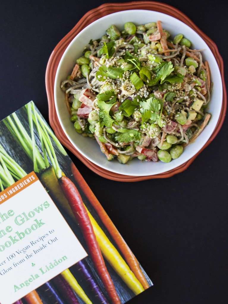 Thai Almond Noodle Bowl + Oh She Glows Cookbook Giveaway | Veggie and the Beast