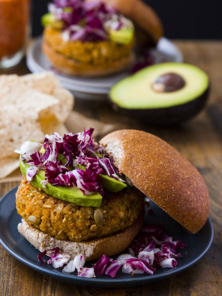 Red Lentil, Smashed Chickpea and Millet Burgers - Vegan and Gluten Free | Veggie and the Beast