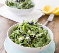 Blueberry Arugula Salad with Lemon Honey Dressing | veggieandthebeastfeast.com