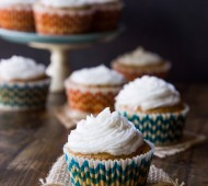 Sweet Potato Cupcakes with Salted Coconut Oil Frosting | veggieandthebeastfeast.com