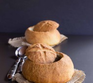 Quick Whole Wheat Bread Bowls | veggieandthebeastfeast.com