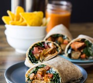 Buffalo [NO] Chicken Wraps #vegan // veggieandthebeastfeast.com
