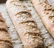Whole Grain Flax and Millet Baguettes! Easier than you think, and there's NOTHING like homemade bread!