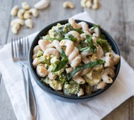 Creamy Roasted Garlic, Broccoli and Leek Pasta // veggieandthebeastfeast.com
