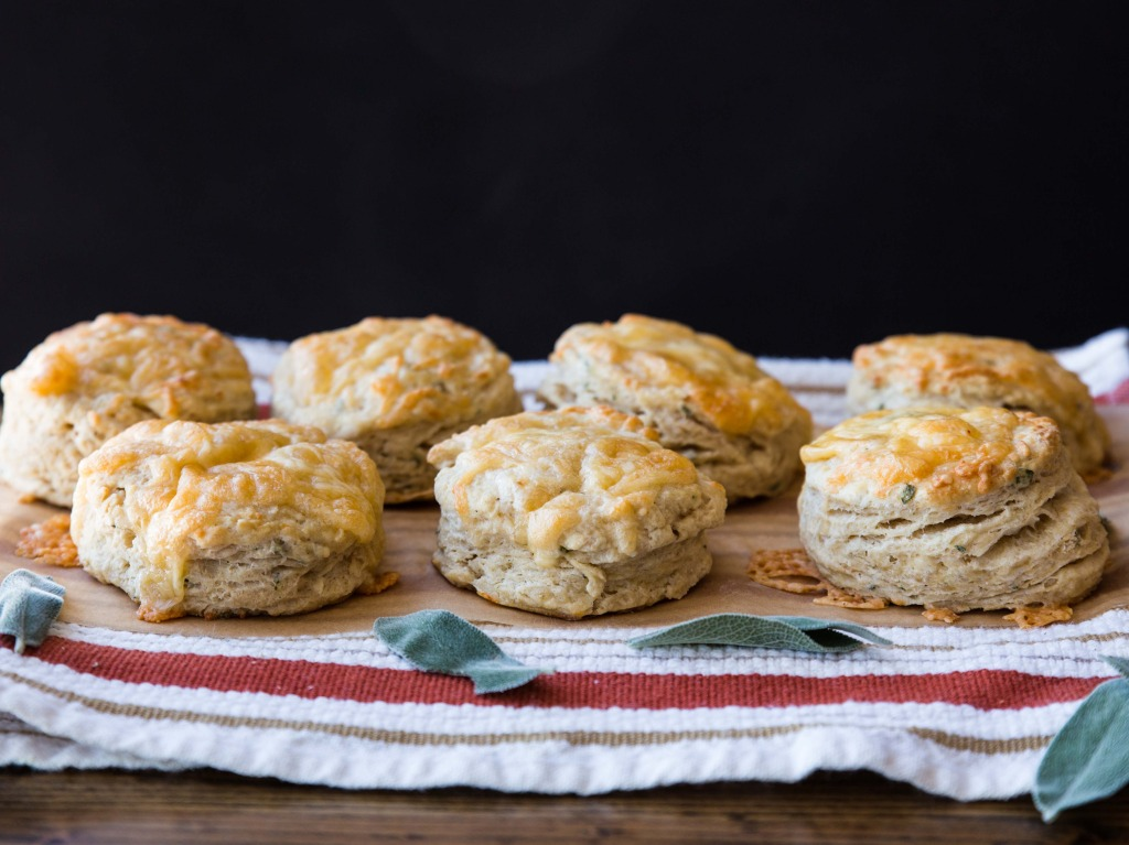 Simple Gouda and Sage Biscuits // veggieandthebeastfeast.com