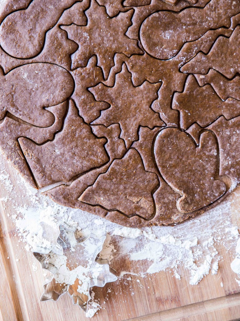 Whole Wheat Ginger Cutout Cookies // veggieandthebeastfeast.com