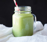 Tropical Green Breeze Smoothie - coconut, pineapple, and banana make for a tropical treat in January! #vegan #glutenfree