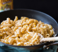 Hot Jalapeño, Corn and Cholula Skillet Mac and Cheese