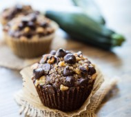 Gluten Free Chocolate Zucchini Muffins - soft, sweet, and decadent, made gluten free with homemade quinoa flour and almond flour!